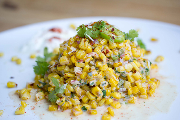 Skinny Mexican street corn salad for when you're craving spicy street corn minus the calories!