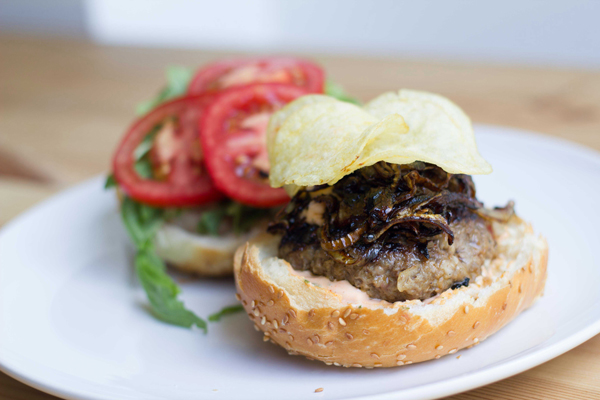 Spicy Sriracha Burger Perfect for spicing things up at your 4th of July Barbecue!