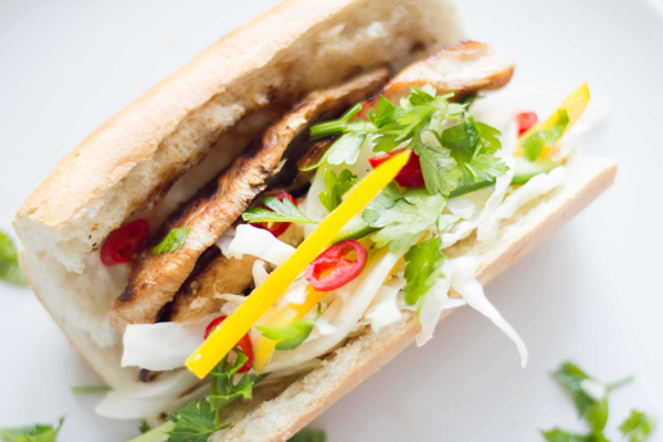 Grilled Chicken Sandwich with Asian Slaw