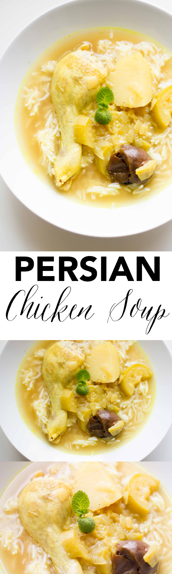 This traditional Persian Chicken Soup recipe is set apart with the addition of dried Persian limes, tangy, sour and delicious! www.seriousspice.com
